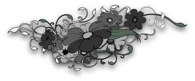 Tattoo flower Stock Image