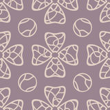 Tattoo flowers. Vector purple floral seamless pattern Royalty Free Stock Photos