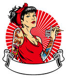 Tattoo girl Stock Photography