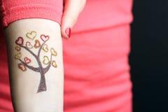 Tattoo of glitter Royalty Free Stock Photos