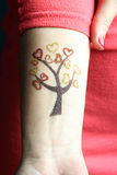 Tattoo of glitter Royalty Free Stock Photography