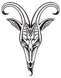 Tattoo goat head isolated Stock Photography