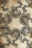 Tattoo Group Of Dragons, Ancient Decoration Stock Photography
