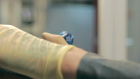 Tattoo on a hand stock video footage
