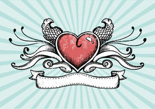 Tattoo Heart Stock Photography