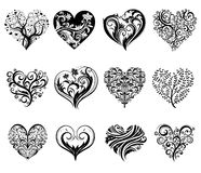 Tattoo hearts. Royalty Free Stock Photos