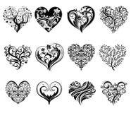 Tattoo hearts. Royalty Free Stock Photos