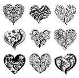 Tattoo hearts. Royalty Free Stock Image