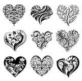 Tattoo hearts. Royalty Free Stock Image