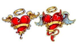 Tattoo Hearts Royalty Free Stock Photos