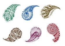Tattoo henna element set Stock Image