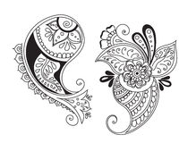 Tattoo henna element Royalty Free Stock Images