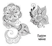 Tattoo henna element Royalty Free Stock Photos