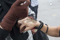 Tattoo of Henna Royalty Free Stock Images