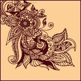 Tattoo henna. Illustration of  abstract pattern of a tattoo henna Royalty Free Stock Image
