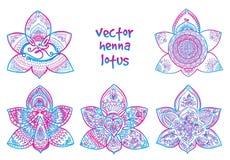 Tattoo henna lotus Stock Image