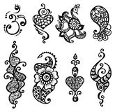 Tattoo henna mandala set Stock Image