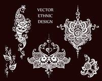 Tattoo henna mandala set Stock Photos