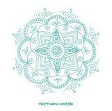Tattoo henna mandala. Vector abstract mandala of tattoo henna. Isolated zentagle for design on white background stock images