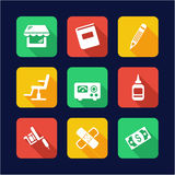 Tattoo Icons Flat Design Royalty Free Stock Photography