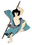 Tattoo japanese Style-1. Vector  illustration  Graphic Tattoo Japanese Style Samurai Japan Stock Photos