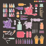 Tattoo kit and equipment Stock Images