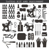 Tattoo kit and equipment Royalty Free Stock Image
