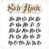 Tattoo lettering set royalty free illustration