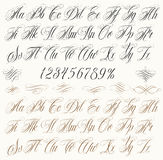 Tattoo letters Stock Image