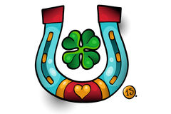 Tattoo luck. Heart horseshoe number 13 Royalty Free Stock Images
