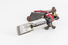 Tattoo machine ( gun ). Tattoo machine ( gun ) and needle - Stock Image macro royalty free stock photo