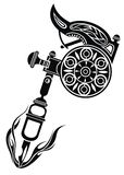 Tattoo machine. Vector illustration on white background royalty free stock images
