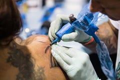 Tattoo Making Royalty Free Stock Image