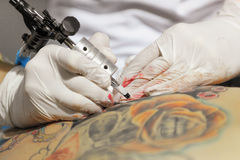 Tattoo Making Stock Photography