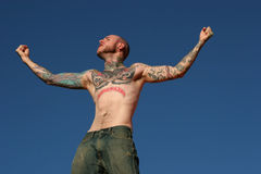 Tattoo man stock photo