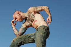 Tattoo man Stock Photography