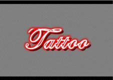 Tattoo neon shop strips background stock photography