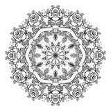 Tattoo old school style mandala. Vector illustration isolated. L Royalty Free Stock Photography