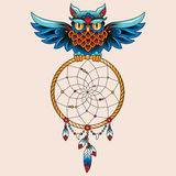 Tattoo owl Royalty Free Stock Photography