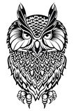 Tattoo owl Royalty Free Stock Image
