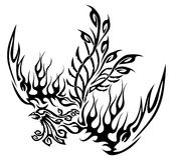 tattoo phoenix Стоковое фото RF