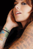 Tattoo Portrait Stock Images