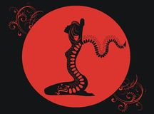Tattoo of red dragon Royalty Free Stock Images