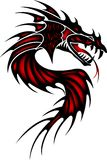 Tattoo red dragon Stock Images