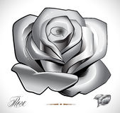 Tattoo Rose set Royalty Free Stock Photos