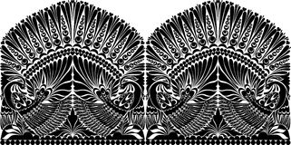 Tattoo russian ornament. folklore ornament withe bird Royalty Free Stock Photos