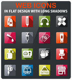 Tattoo salon icon set Stock Photos