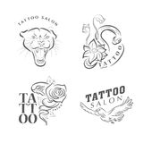 Tattoo salon logo template. Royalty Free Stock Image