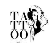 Tattoo salon logo template. Royalty Free Stock Image