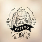 Tattoo santa old school studio skull Stock Images